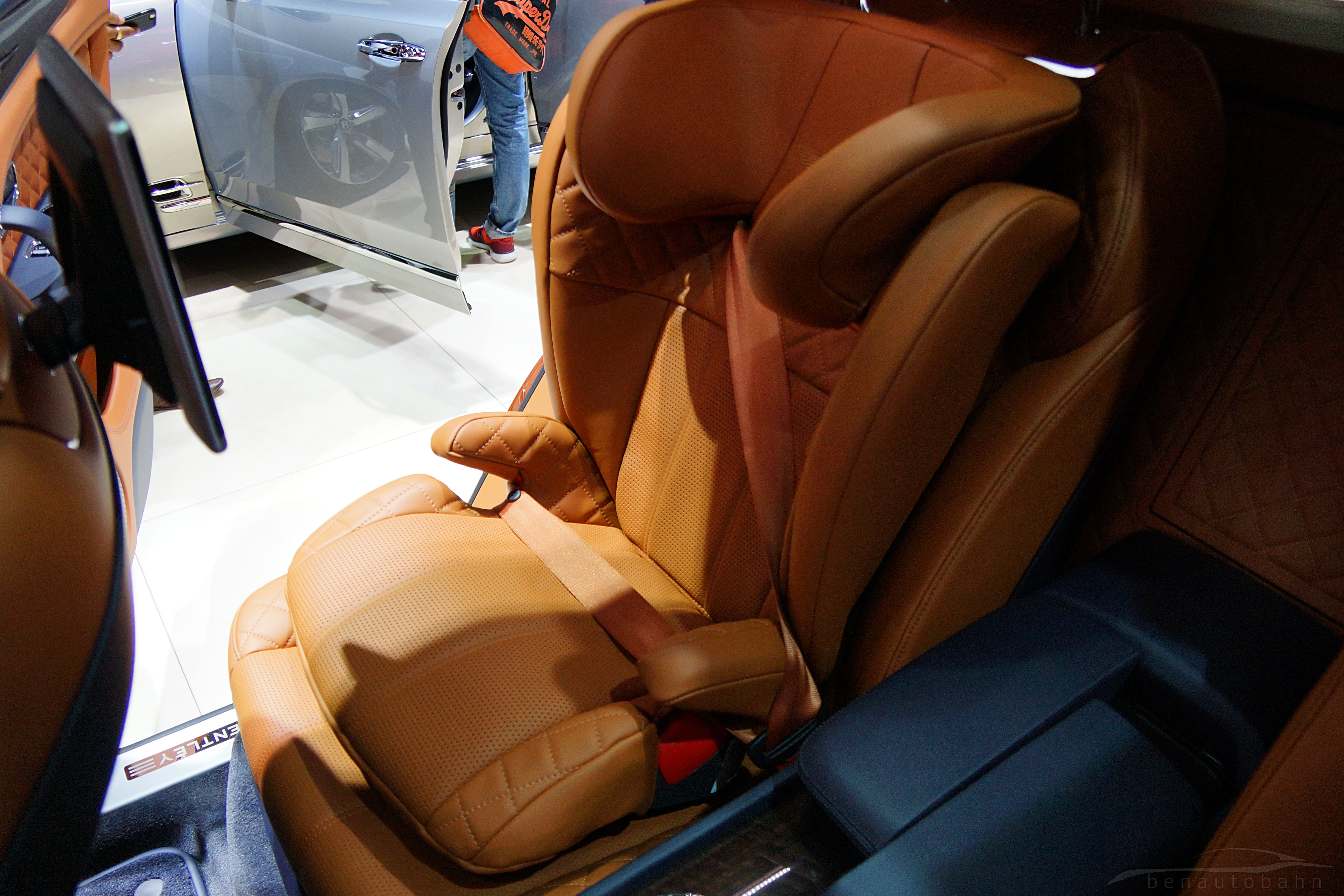 Why be born with a silver spoon when you can have a Bentley baby seat instead